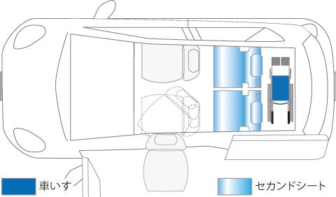 ダイハツ タントスローパー シート昇降タイプ